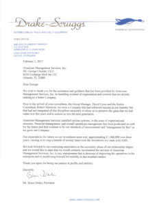 Drake Scruggs Reference Letter for American Management Services