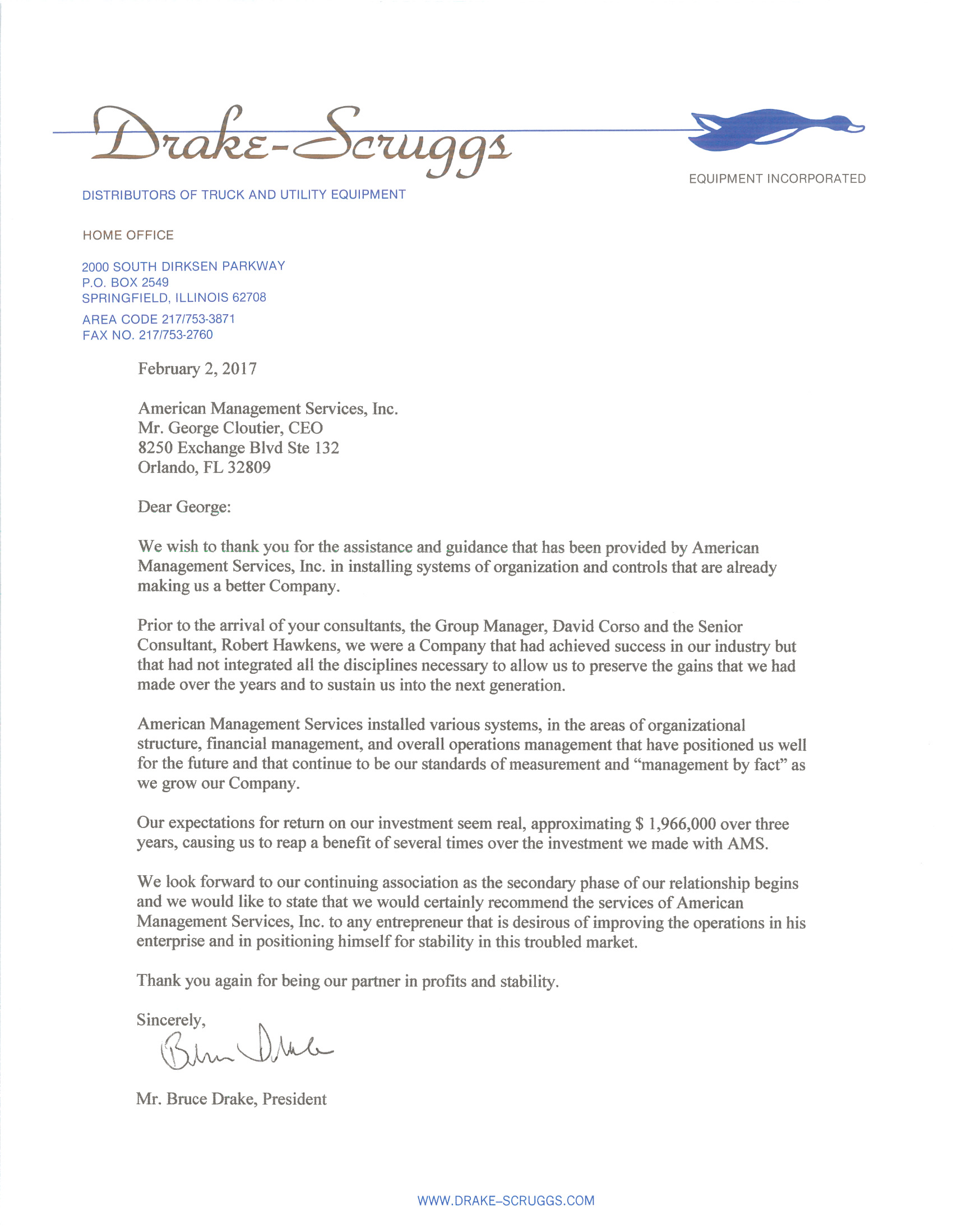 Drake scruggs equipment reference letter american management drake scruggs equipment reference letter aljukfo Image collections